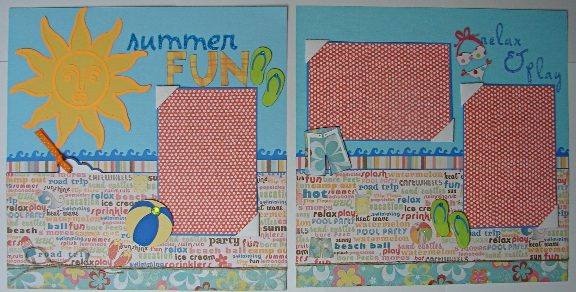 Summer vacation scrapbook ideas - Summer Fun