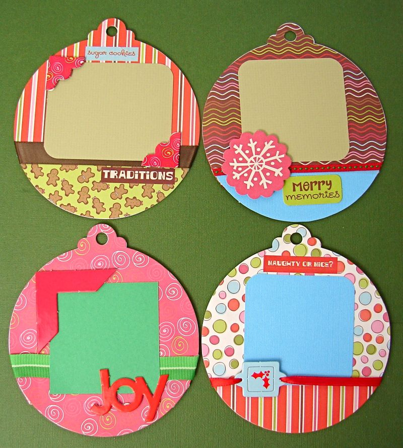 Ornament Christmas Chipboard Album