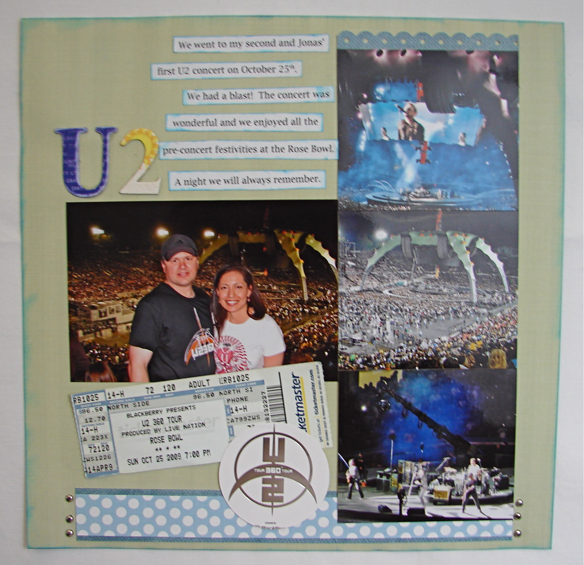 Scrapbook ideas for elderly - U2 Scrapbook Layout