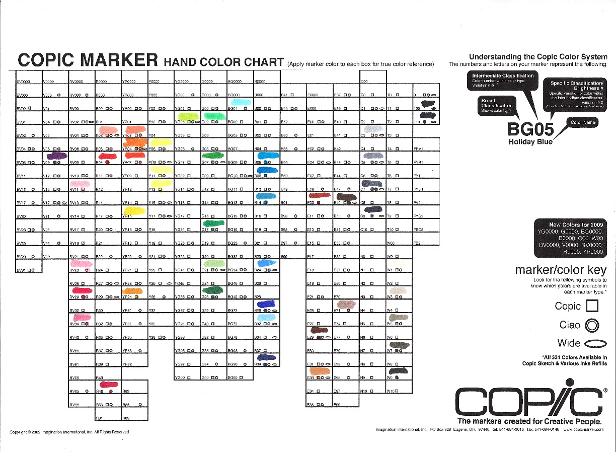 Copic markers and a giveaway creative keepsakes custom scrapbooks copic color chart nvjuhfo Image collections
