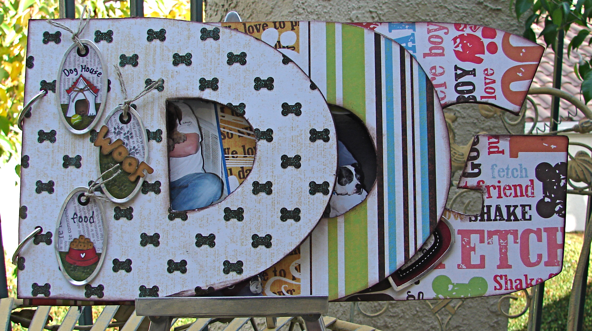 Dog chipboard album