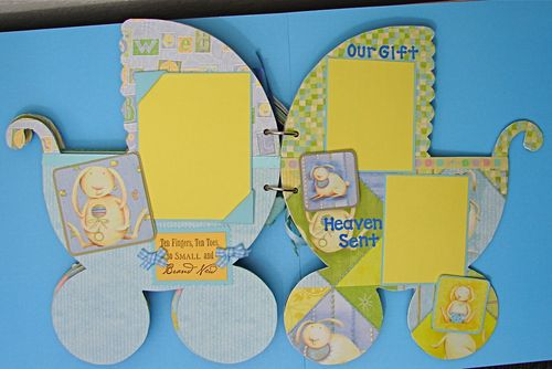 Baby Boy Carriage Chipboard Album