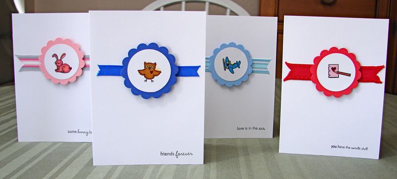 Papertrey Ink Tiny Valentine's Cards